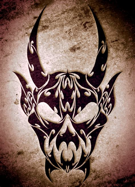 tribal tattoos evil tribal by toxicblizzard on deviantart