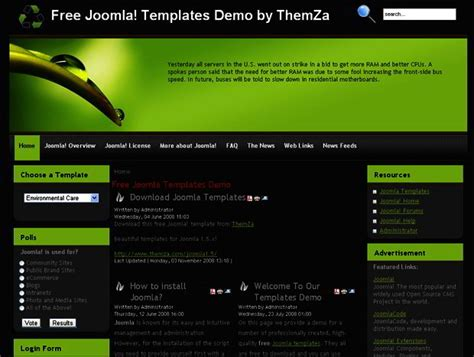 free joomla templates 20 popular free joomla templates templates