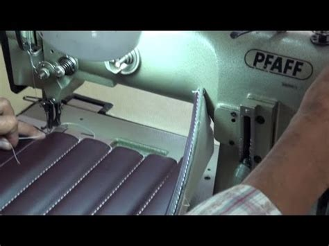 sewing car upholstery pattern sewing machine on car seat doovi