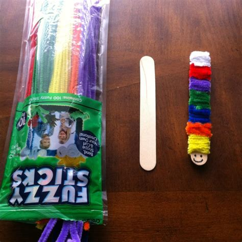jumbo craft sticks projects caterpillar jumbo craft stick fuzzy sticks adha