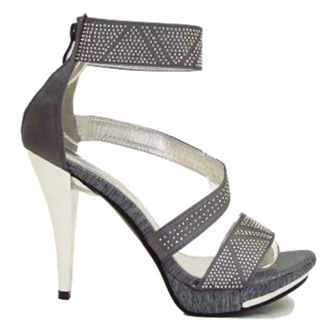 Pewter Shoes For Wedding by Pewter Satin Bridal Wedding Prom Sandals Shoes Size 7 Buy
