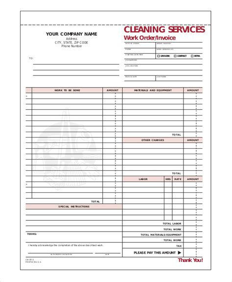 moving company receipt template company invoice template 5 free word excel pdf