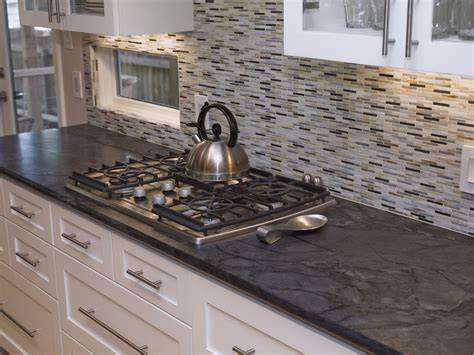 Soapstone Tile Backsplash backsplash cabinet colors to pair with soapstone homchick stoneworks inc