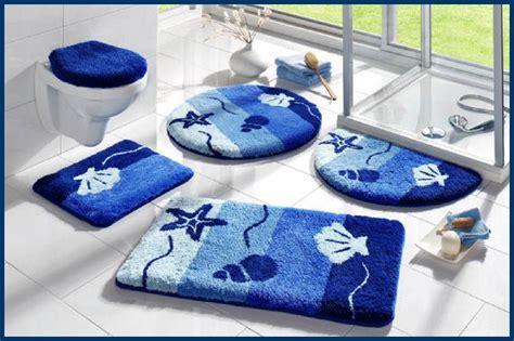 badematte maritim badematte marine aqua blau 3tlg bad garnitur oder bad