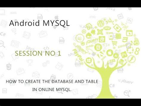 tutorial android mysql pdf android mysql database tutorial 1 create database and