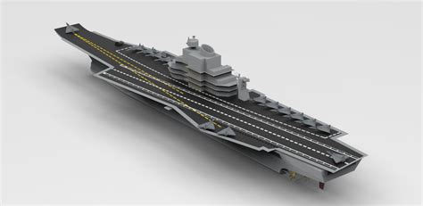 How To Make A Aircraft Carrier Out Of Paper - aircraft carrier ins vikramaditya model catia step