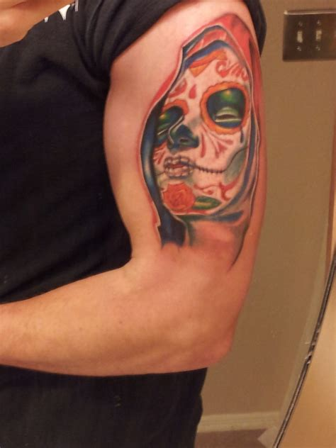 2 face tattoo design day of the dead tattoos designs ideas and meaning