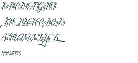 tattoo fonts preview script lettering fonts ellenslillehjorne