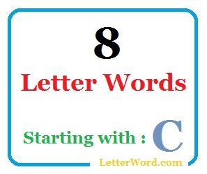 8 Letter Words Starting With In