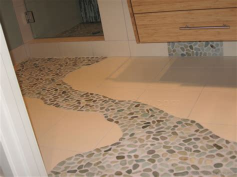 Pebble Tile Floor by Miserable Pebble Tile Flooring Diytileguy