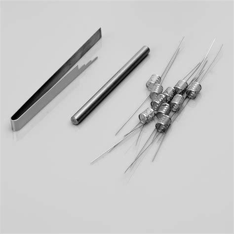 D07 Notch Coil Stainless Steel 0 2 Ohm Ss Wire 316l Wismec Theorem 0 2 ohm notchcoil 4 5 x 6mm 10 pcs 316ss coils for rba rda rta