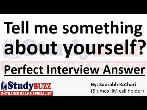 Tell Me About Yourself Mba Graduate by Tell Me Something About Yourself Answer In Mba