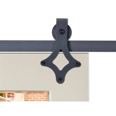 Calhome 72 In Matte Black Rustic Star Barn Style Sliding Barn Style Sliding Door Hardware