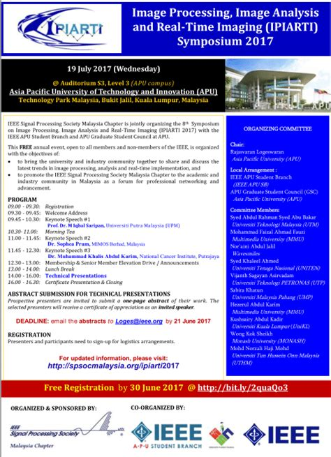 ieee malaysia section free ipiarti 2017 symposium for young researchers ieee