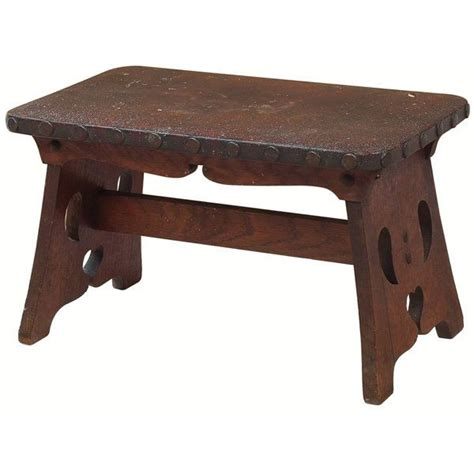 12 Inch High Step Stool by Limbert Cricket Stool Leather Top 12 Inches High 20 Quot W X