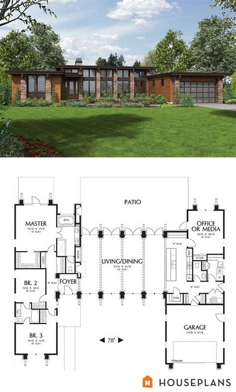 Modern Architecture House Floor Plans Best 25 Modern House Plans Ideas On Pinterest Modern
