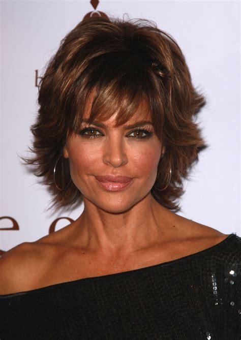 what is the texture of rinnas hair lisa rinna with short hair in layers long hairstyles