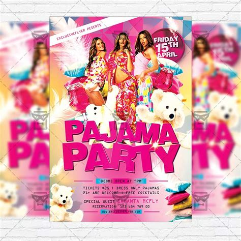Pajama Party Premium Flyer Template Facebook Cover Exclsiveflyer Free And Premium Psd Pajama Flyer Template