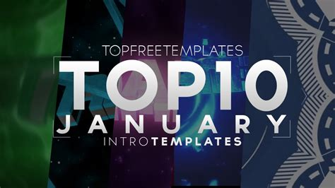 Best Top 10 January Intro Templates 2015 Sony Vegas After Effects C4d 2015 Youtube Top Free Templates