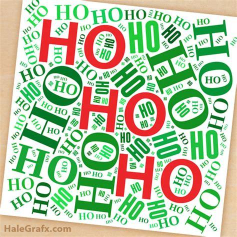 printable name art free printable christmas ho ho ho word art