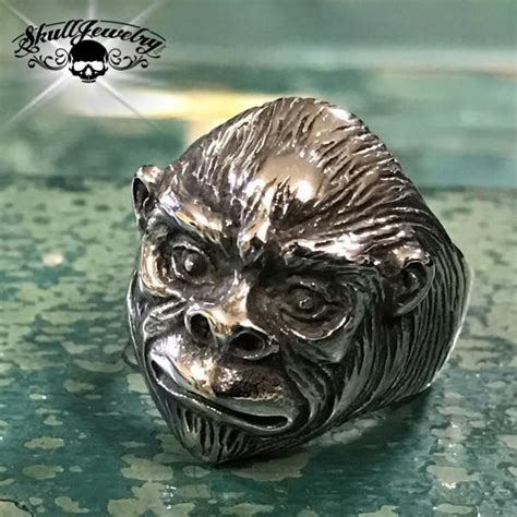 Zeca 261 Ss Ring Swasa Withe stainless steel casted sugar skull biker ring with flower on forhead aka d 237 a de muertos anillo