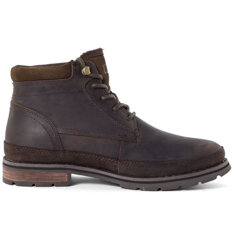 caterpillar oatman mens ankle boots leather brown new
