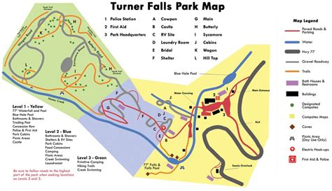 turner falls oklahoma map turner falls park maplets
