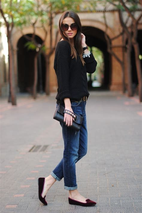 boyfriend and loafers style inspiration completely casual chic the simply