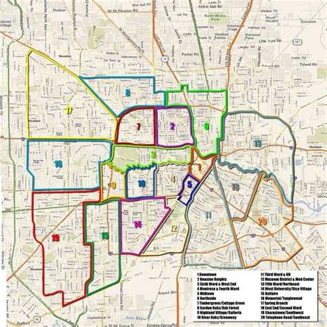 map of houston tx area houston arts and media projects neighborhoods map