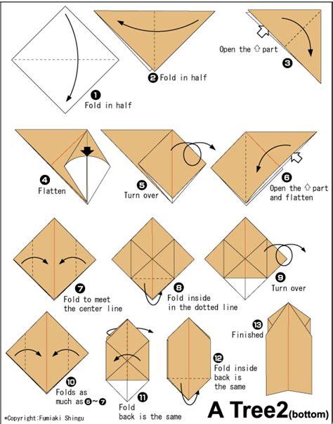 printable origami christmas instructions christmas tree 2 easy origami instructions for kids
