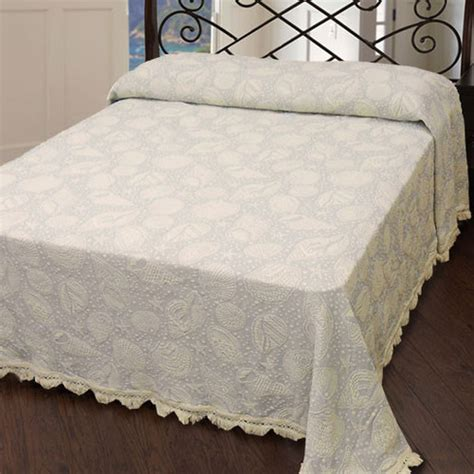 seashell matelasse coverlet seashell matelasse bedspread usa made by maine heritage