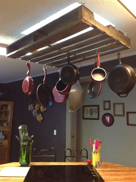 Simple Pot Rack Pallet Pot Rack Simple And Easy Cost Less Than 30
