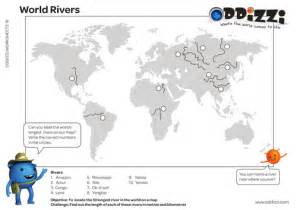 world map with rivers and mountains labeled pdf world rivers mapping by oddizzigloballearning teaching resources tes