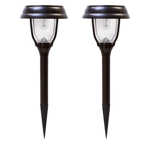 Gama Sonic Solar Powered Brown Outdoor Integrated Led Solar Powered Led Outdoor Lights