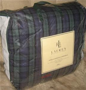 ralph lauren down comforter plaid ralph lauren blackwatch plaid down alternative king