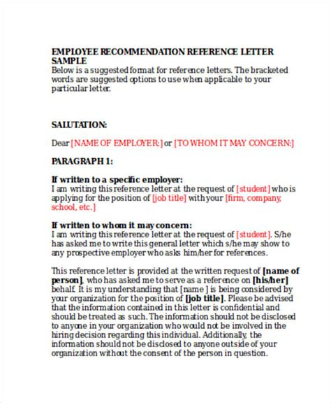 General Reference Letter From Employer 79 Exles Of Recommendation Letters