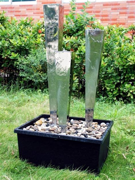 Garden fountains stainless steel beautify your garden landscape interior design ideas ofdesign