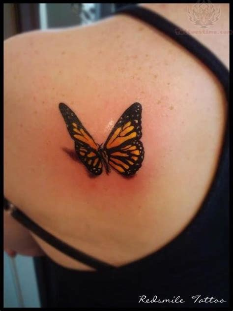 yellow butterfly tattoo yellow butterfly on back shoulder