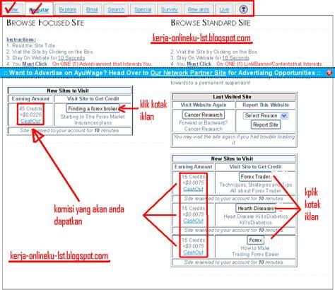 Teh Kotak Uj cara mendaftar ptc ayuwage dan dapatkan uang 0 2 perjam kerja