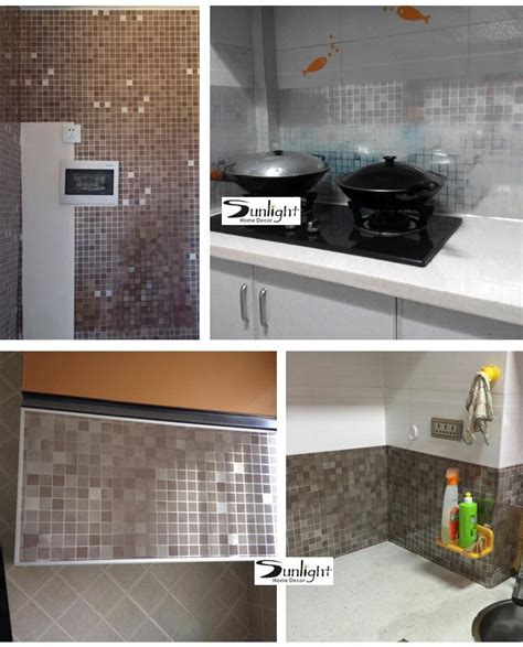 Wallpaper Sticker 10m Roll 5 10m lot pvc aluminum foil self adhesive stickers for kitchen bathroom toilet wallpaper roll