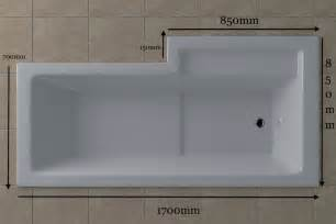 Bath With Shower cube 1700 x 750 shower bath rh the bathroom cellar
