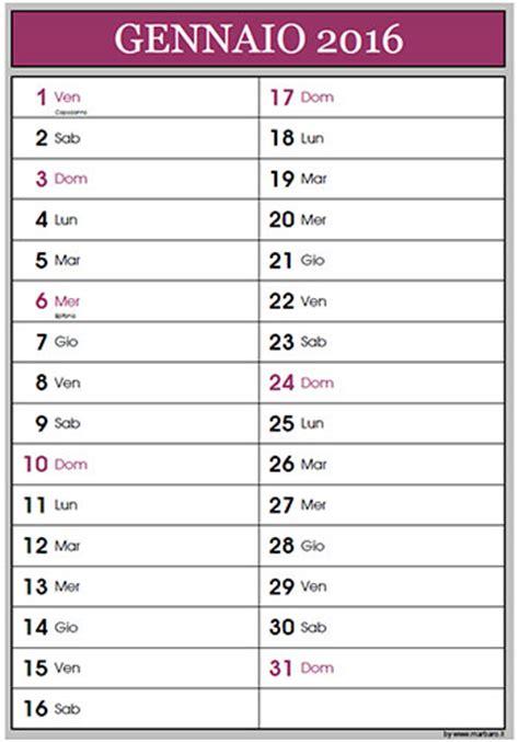 calendario 2016 mensile plan calendario 2016 mensile da stare