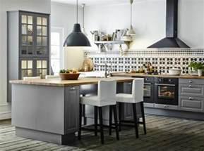 Attrayant Ilot Central De Cuisine Ikea #7: joli-ilot-de-cuisine-ikea-ilot-central-dans-la-cuisine-moderne-de-style-rustique-avec-parquette.jpg