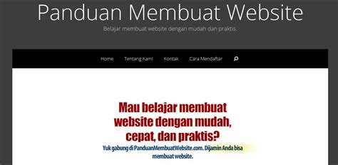 membuat website travel belajar membuat website di panduan membuat website com