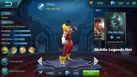 wallpaper mobile legend chou chou dangerous attack items mobile legends