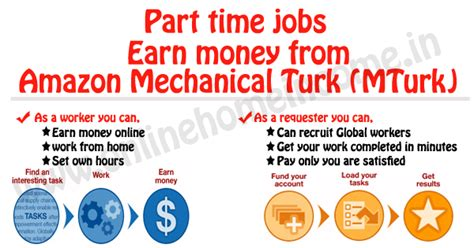 amazon turk part time jobs amazon mechanical turk mturk tips