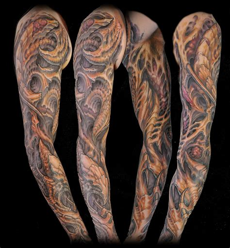 organic tattoo designs organic bio sleeve