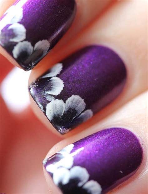 Purple Flower Nails | purple flower nail arts 2015 reasabaidhean
