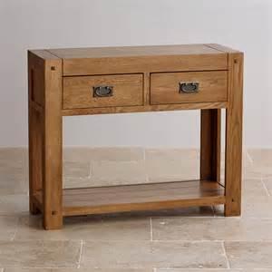 Oak Furniture Land Console Table Quercus Rustic Solid Oak Console Table By Oak Furniture Land
