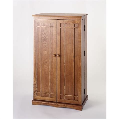 cd dvd media storage cabinet with door in oak cd 612d